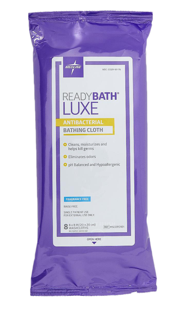 MSC095101 ReadyBath LUXE Antibacterial Total Body Washcloths