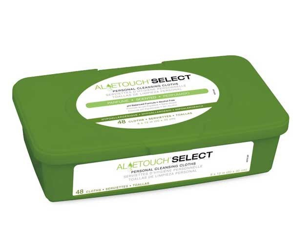 Medline MSC263701 AloeTouch Select Premium Spunlace Personal Cleansing Cloths