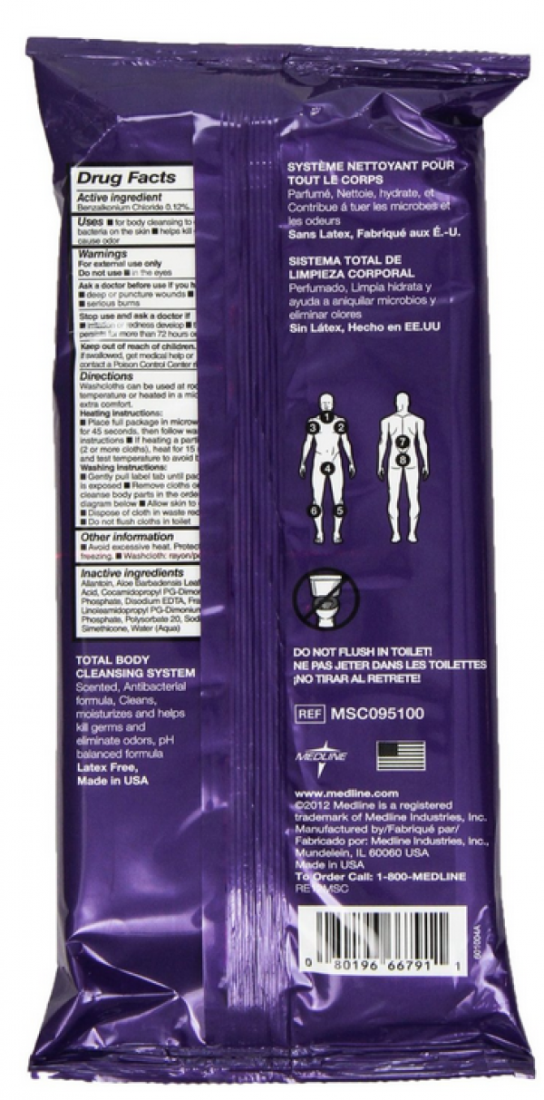 ReadyBath LUXE Total Body Washcloths - Antibacterial