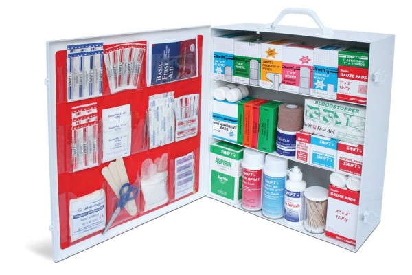 Radnor  3-Shelf 25 Person Durable Metal Industrial First Aid Cabinet