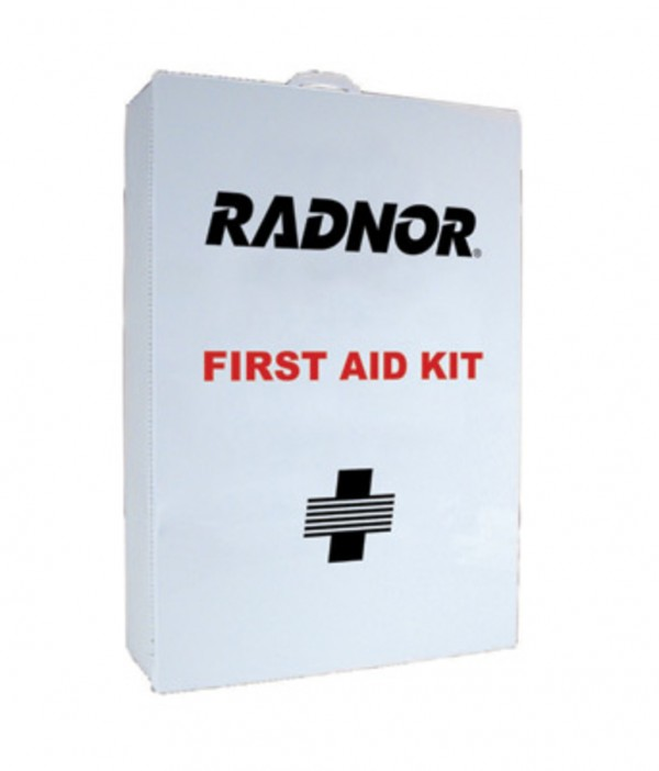 Radnor  Four-Shelf 50 Person Metal Industrial First Aid Cabinet