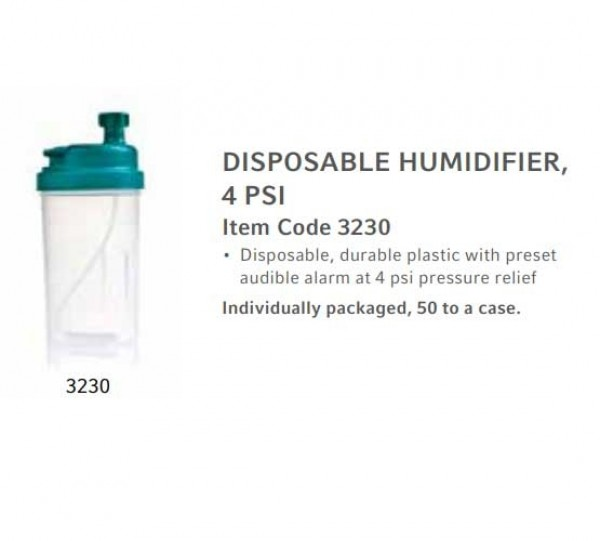 Teleflex 3230 Humidifier Bottle Features